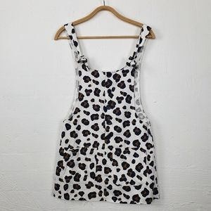 AVA & EVER White/Black/Brown Pinafore Size 6 NWT